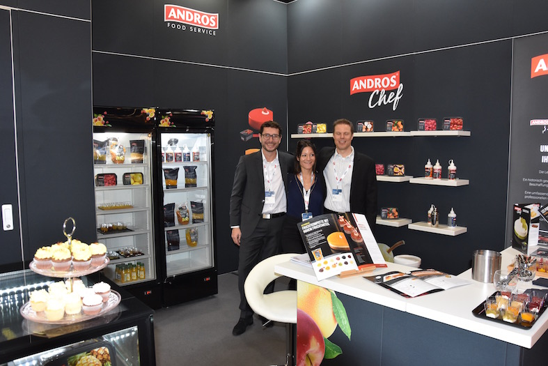 Andros, v.l.n.r. Fabrice Lejoindre (Responsable Food Service), Sybelle Cormaci (Key Account Manager), Reto Scheidegger (Directeur Commercial)